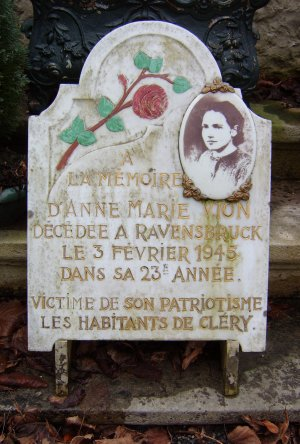 Commemorative Plaque to Anne-Marie Vion