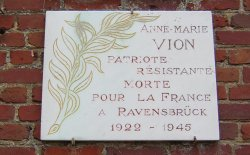 Plaque to Anne-Marie Vion